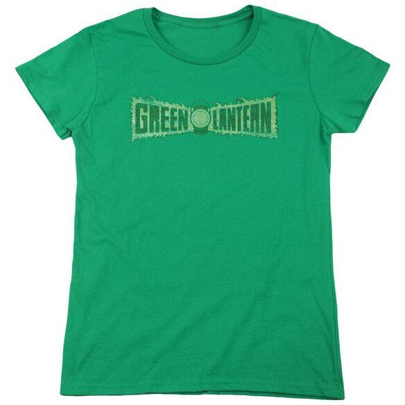Lantern Flame Logo Short Sleeve Womens Tee Kelly T-Shirt
