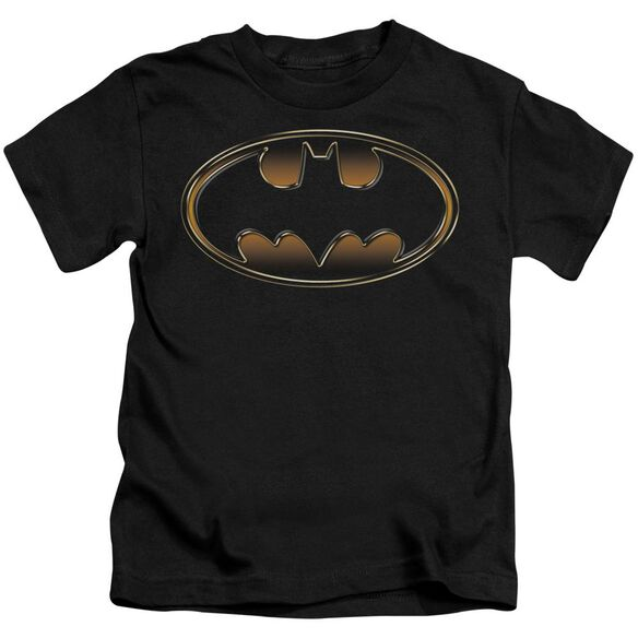 Batman & Gold Embossed Short Sleeve Juvenile T-Shirt