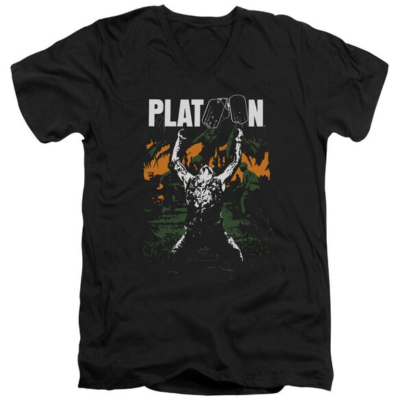 Platoon Graphic Short Sleeve Adult V Neck T-Shirt
