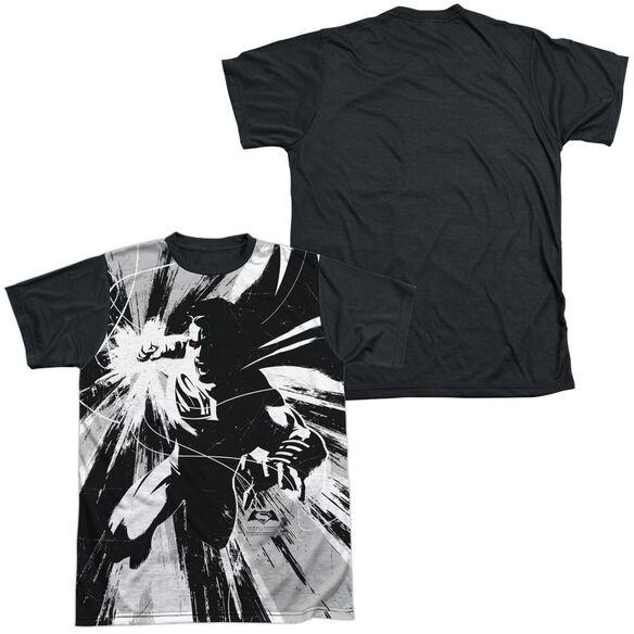 Batman V Superman Graphic Contrast Short Sleeve Adult Front Black Back T-Shirt