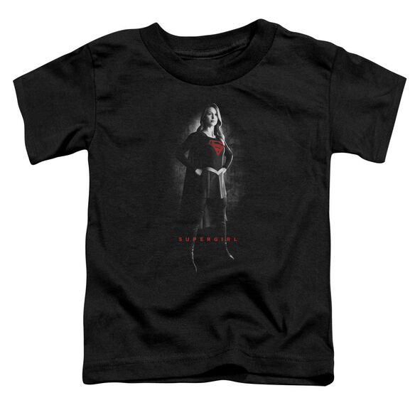 Supergirl Supergirl Noir Short Sleeve Toddler Tee Black T-Shirt