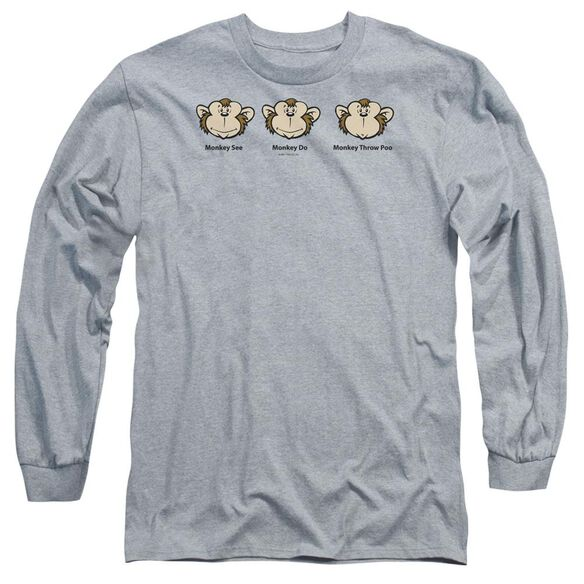 Monkey See... Long Sleeve Adult Athletic T-Shirt