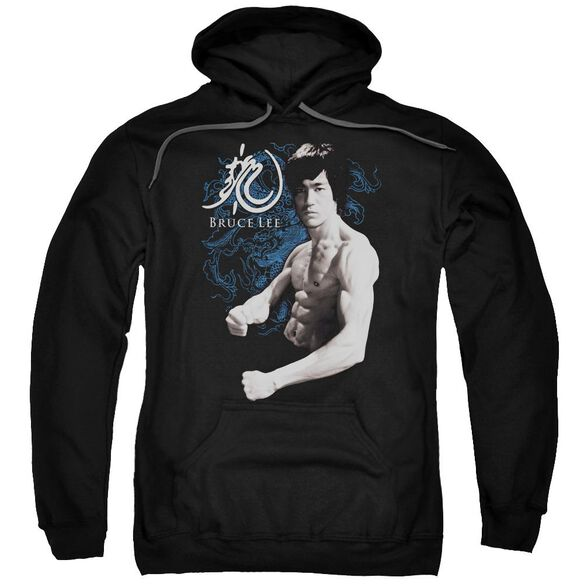 Bruce Lee Dragon Stance Adult Pull Over Hoodie