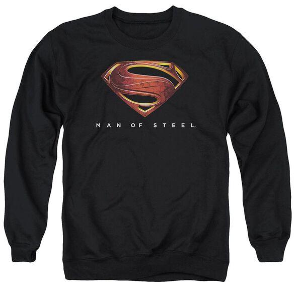 Man Of Steel Mos New Logo Adult Crewneck Sweatshirt