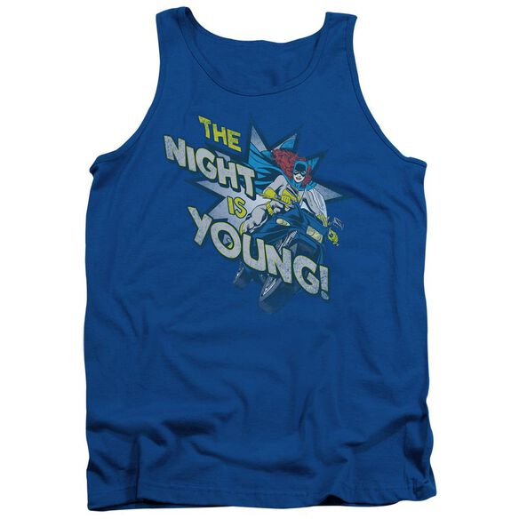 Dc The Night Is Young Adult Tank Royal