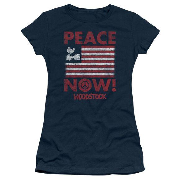Woodstock Peace Now Short Sleeve Junior Sheer T-Shirt