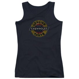 Chevrolet Genuine Chevy Parts Distressed Sign Juniors Tank Top