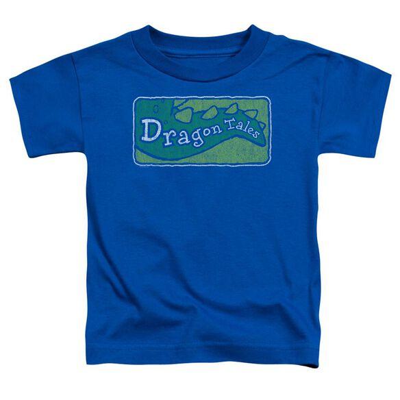 Dragon Tales Logo Distressed Short Sleeve Toddler Tee Royal Blue T-Shirt