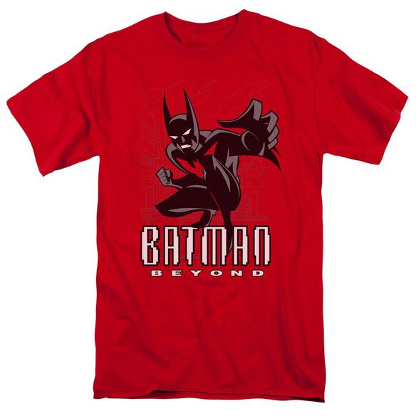 Batman Beyond Engage Short Sleeve Adult Red T-Shirt