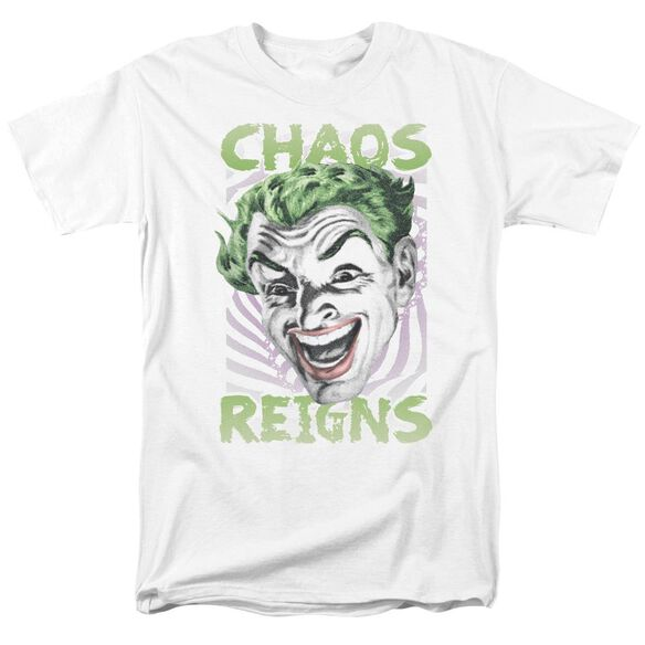 Batman Classic Tv Chaos Reigns Short Sleeve Adult White T-Shirt