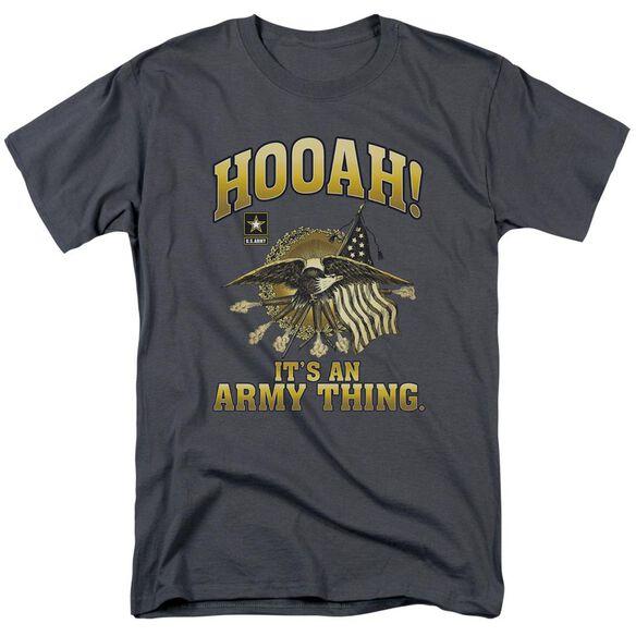 Army Hooah Short Sleeve Adult T-Shirt