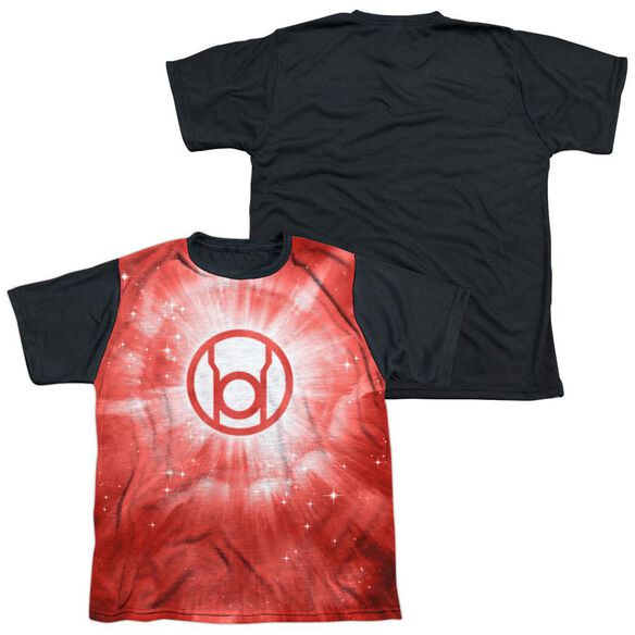 Green Lantern Red Energy Short Sleeve Youth Front Black Back T-Shirt