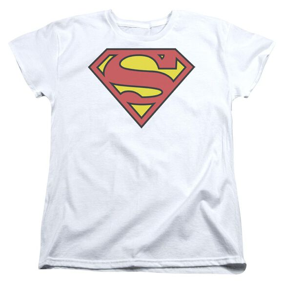 Superman Classic Logo Short Sleeve Womens Tee T-Shirt