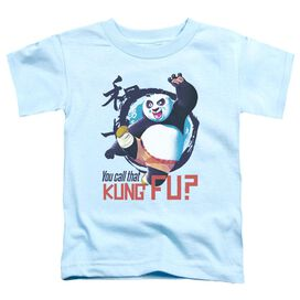Kung Fu Panda Kung Fu Short Sleeve Toddler Tee Light Blue T-Shirt