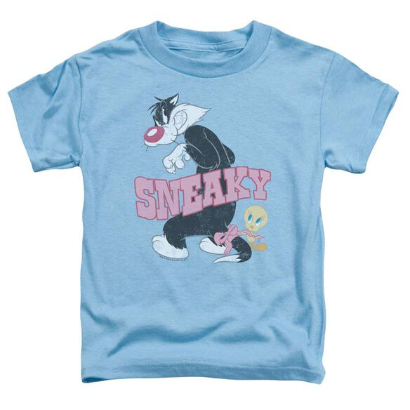 Looney Tunes Sneaky Short Sleeve Toddler Tee Carolina Blue T-Shirt