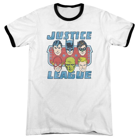 Dc Faces Of Justice Adult Ringer White Black