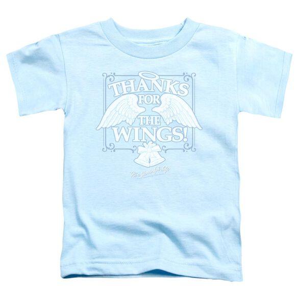 It's A Wonderful Life Dear George Short Sleeve Toddler Tee Light Blue T-Shirt
