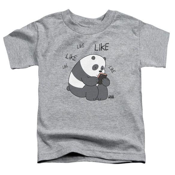 We Bare Bears Like Like Like Short Sleeve Toddler Tee Athletic Heather T-Shirt
