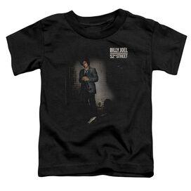 Billy Joel 52 Nd Street Short Sleeve Toddler Tee Black T-Shirt