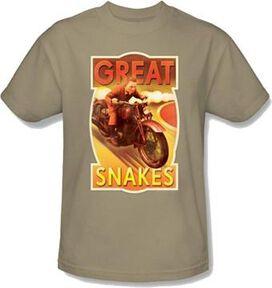Adventures of Tintin Snakes T-Shirt