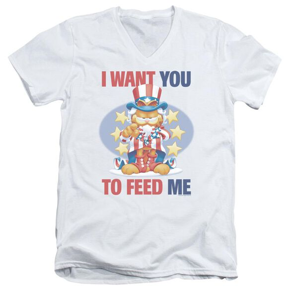 Garfield I Want You Short Sleeve Adult V Neck T-Shirt