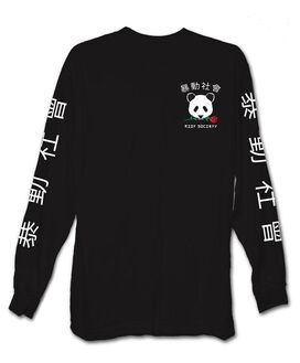 Riot Society - Panda Rose Long Sleeve T-Shirt