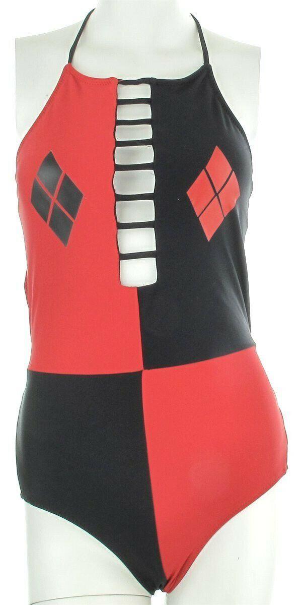 Harley Quinn High Neck Monokini Swimsuit