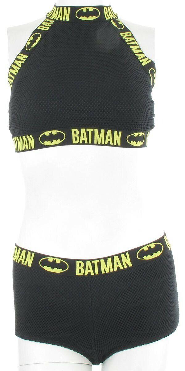Batman High Neck Mesh Bikini Swimsuit