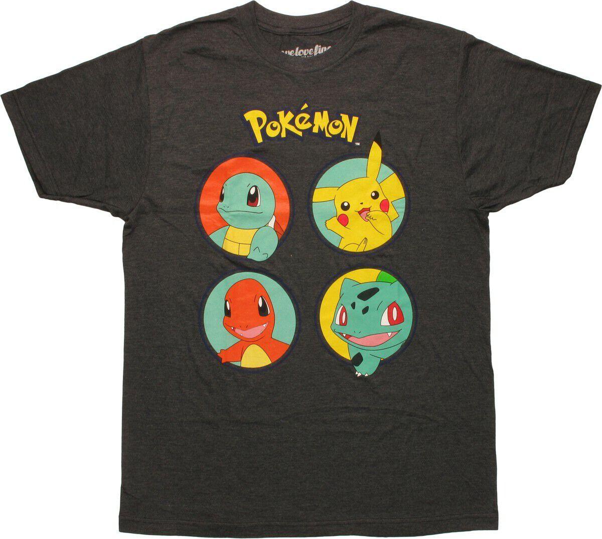 Pokemon Classic Starters Circles MF T-Shirt
