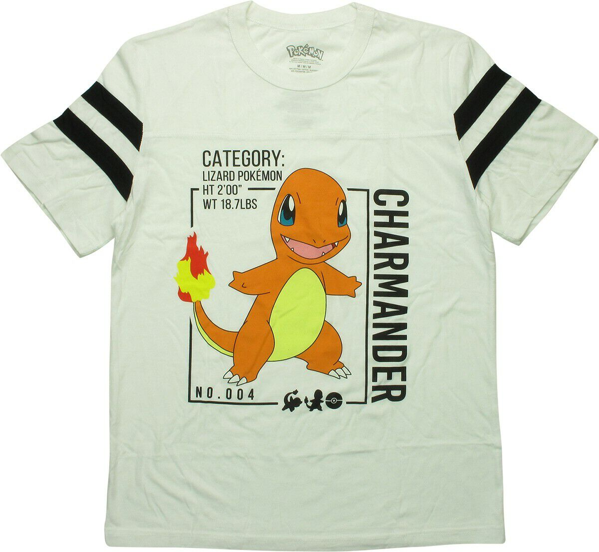 Pokemon Charmander Database Specs Jersey Shirt