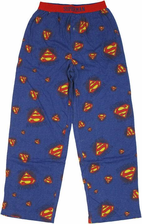 Superman Logo Collage Pajama Pants