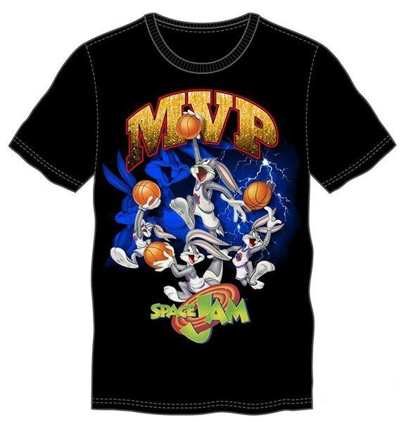 Space Jam Bugs Bunny MVP Black T-Shirt