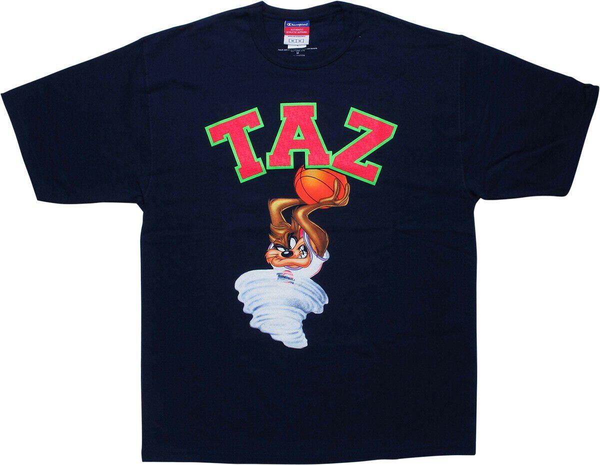 Space Jam Taz Slam Dunk Navy Blue T-Shirt
