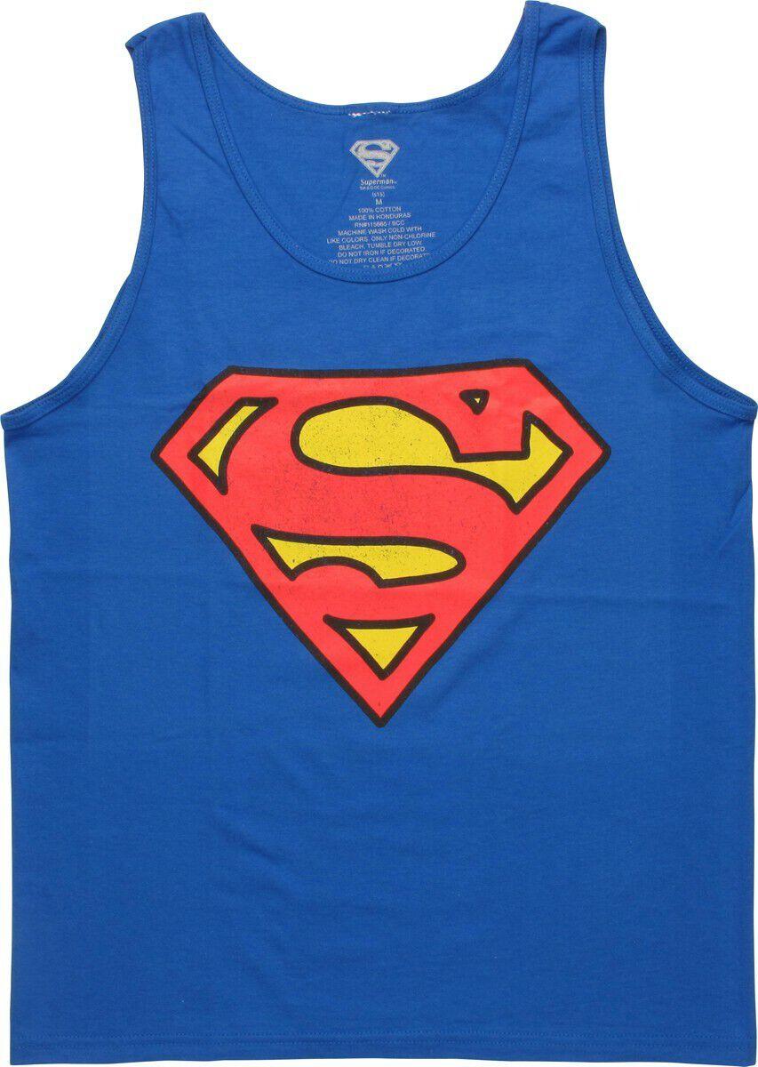 Superman Distressed Shield Logo Tank Top