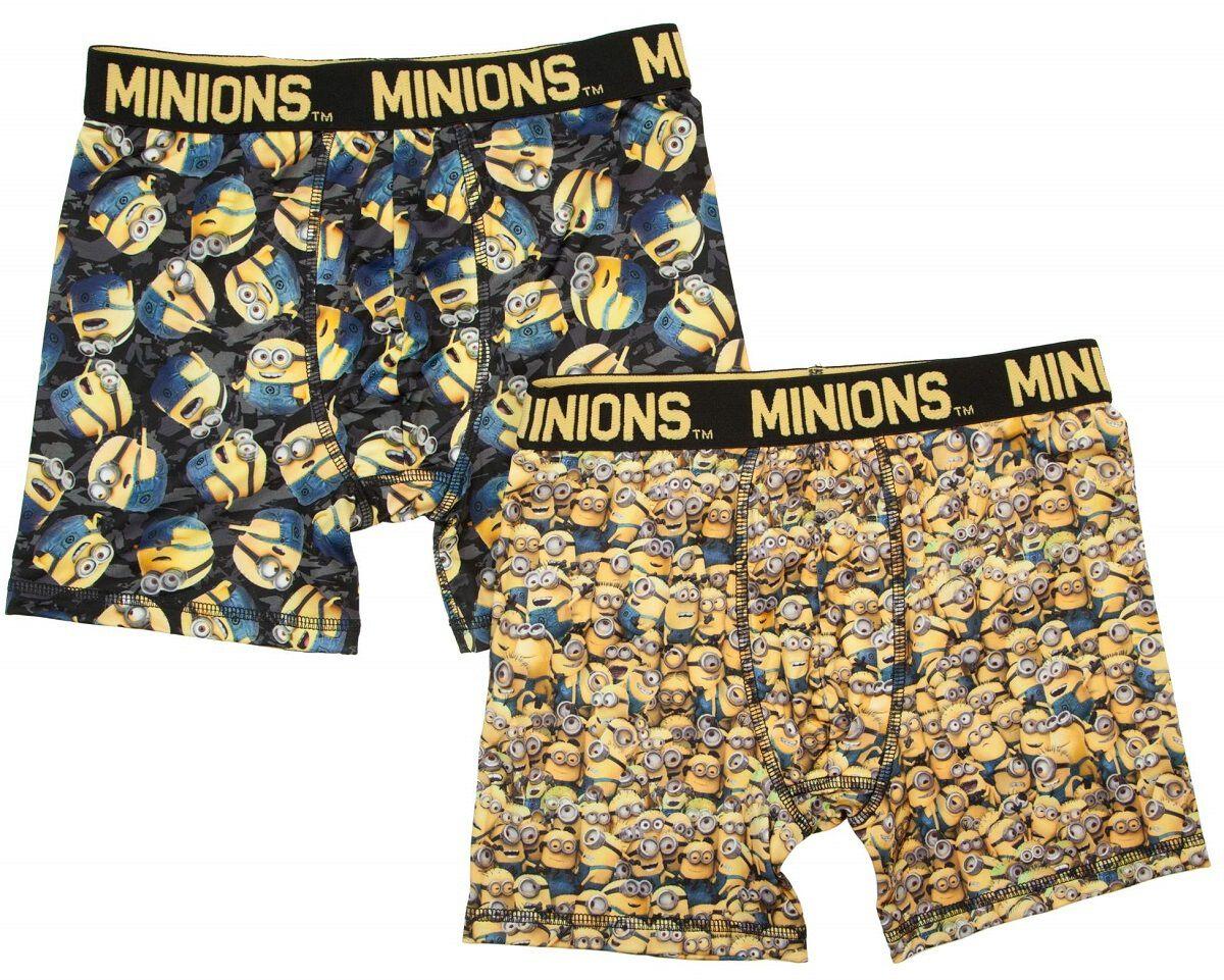 Despicable Me Minions 2 Pack Boys Boxer Briefs