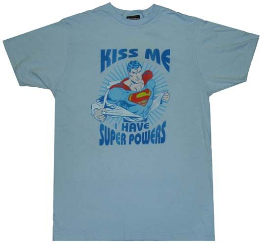 Superman Kiss Me T-Shirt Sheer