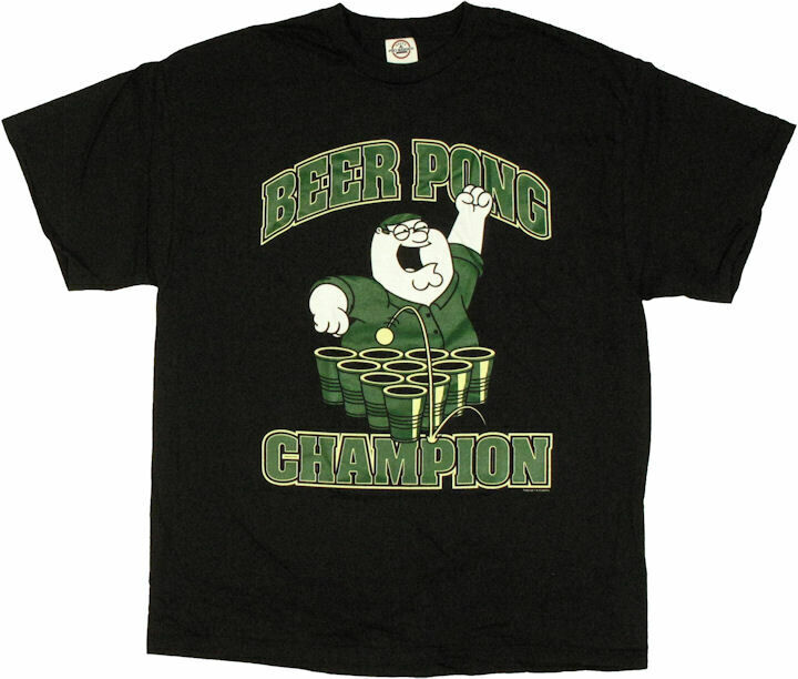 Family Guy Peter Beer Pong Champion T-Shirt