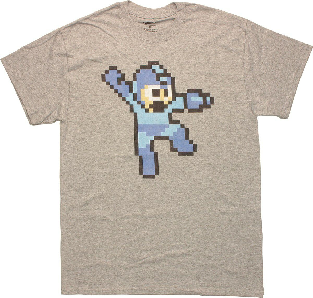 Mega Man 8-Bit Jump Gray T-Shirt