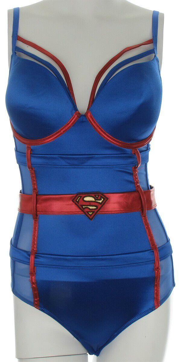 Superman Supergirl Costume Bodysuit