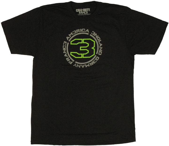 Modern Warfare 3 Countries T-Shirt Sheer