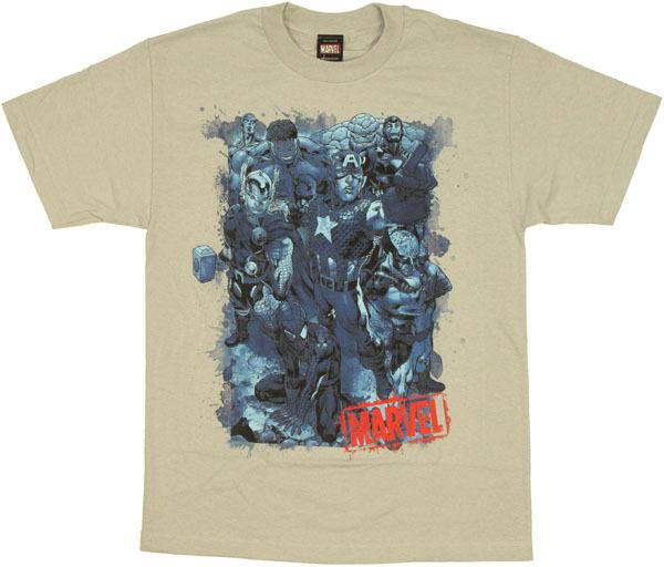 Marvel Blue Heroes T-Shirt