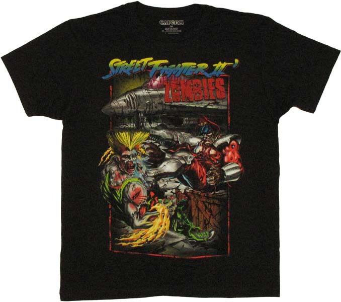 Street Fighter 2 Zombie T-Shirt Sheer