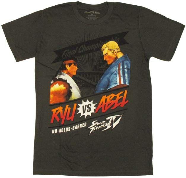 Street Fighter Ryu vs Abel T-Shirt Sheer