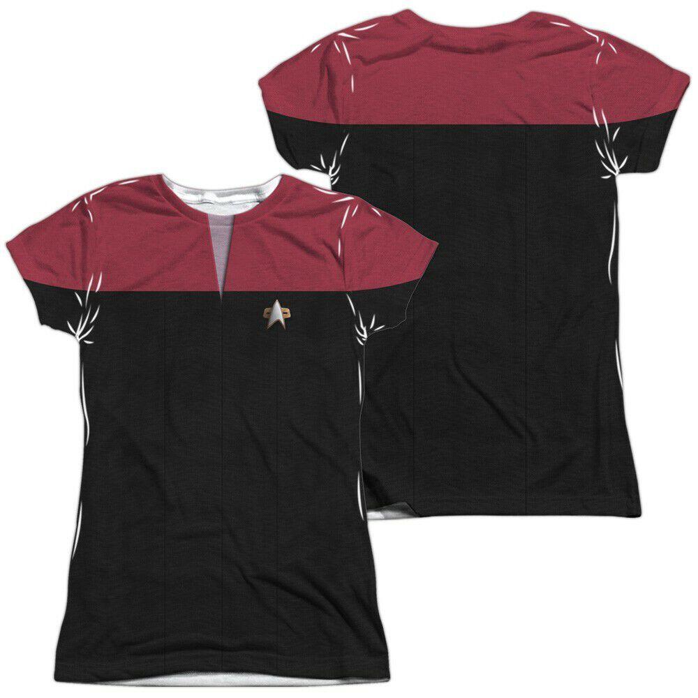 Star Trek Voyager Command FB Sub Juniors T-Shirt