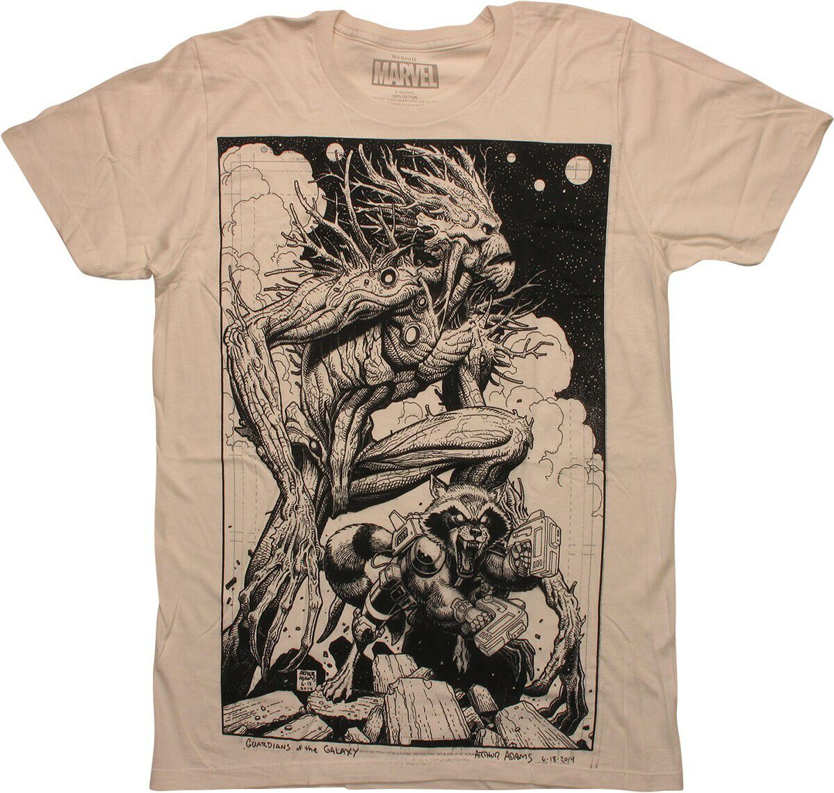 Guardians of the Galaxy Groot Rocket Adams T-Shirt