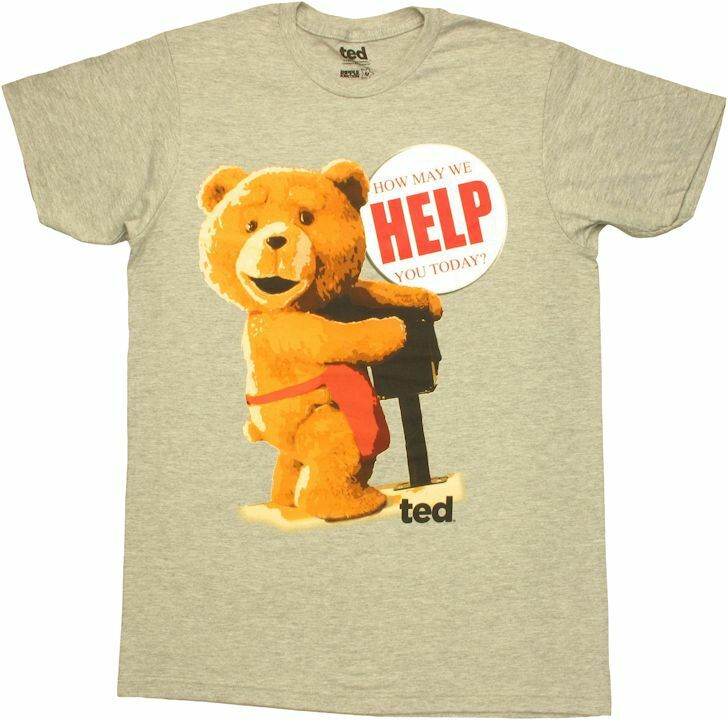 Ted Help Button T-Shirt Sheer