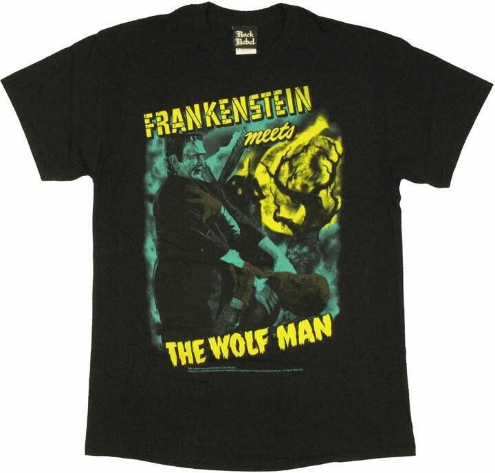 Frankenstein Meets the Wolf Man T-Shirt