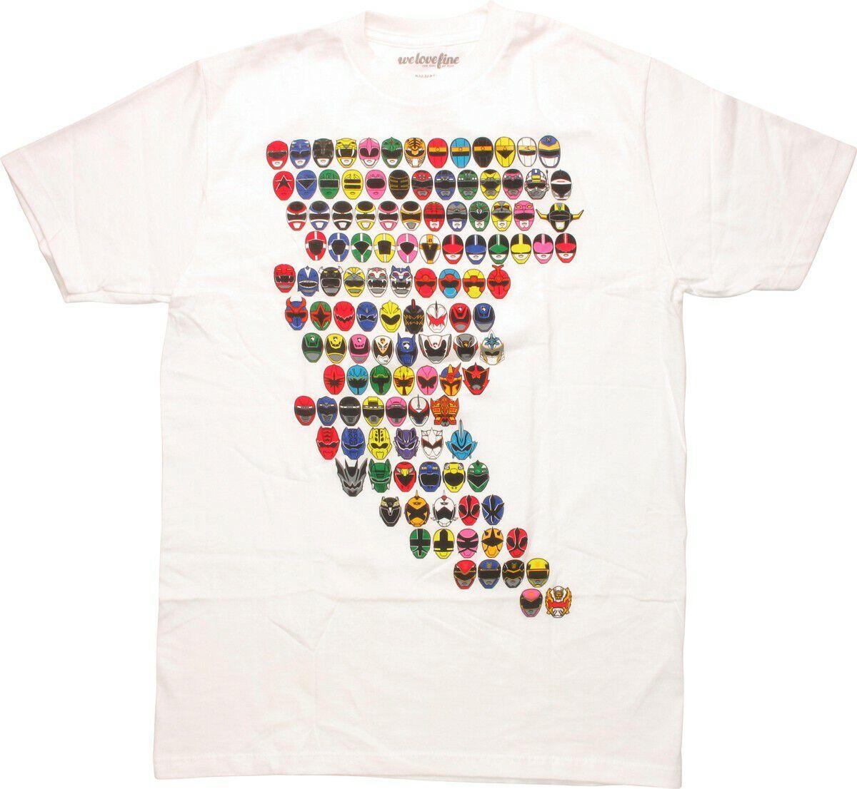 Power Rangers Lightning Masks T-Shirt