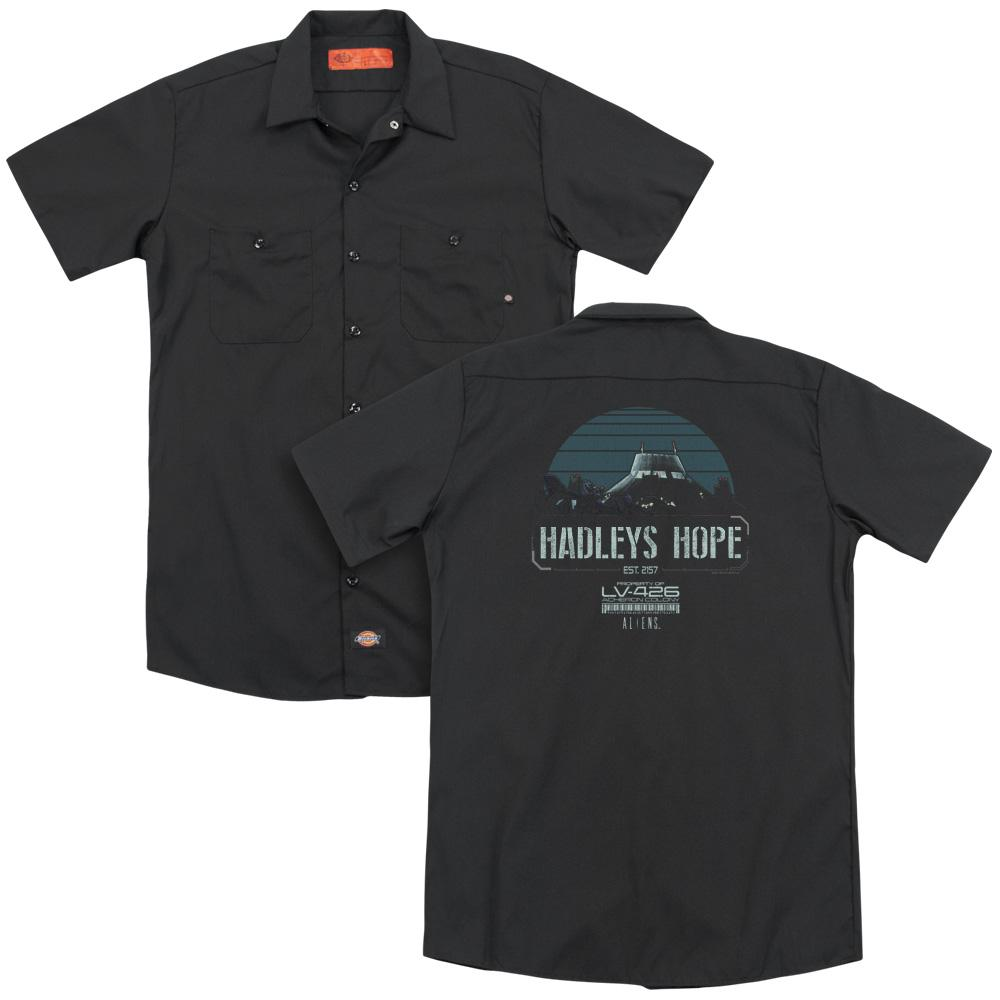 Aliens Hadleys Hope (Back Print) Adult Work Shirt, , small