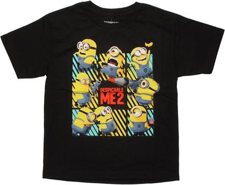 Despicable Me 2 Minion Grid Youth T Shirt